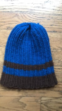 blue and brown knit cap beanie Lynnwood