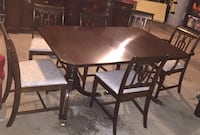 Mahogany Dining Rm Set: Table + 6 chairs, China hutch, Buffet Columbia, 29212