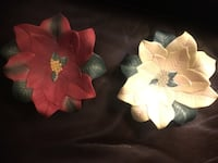 Partylite poinsettia candle holders, christmas