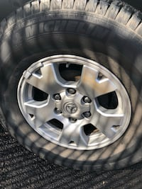 Gray 6 spoke Toyota Tacoma Rims and tire looking for trades some off road rims I'll also be putting a new pair of tires on all four rims soon so if you want to trade you gotta have something equal value or we can negotiate. Also they 245/65/16 willing to  Hilo, 96720