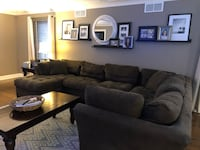 Carson Sectional Couch- brown microfiber $200 OBO Naperville, 60540