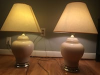Two table lamps for sale 银泉, 20904