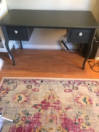 Grey wood desk with Anthropologie knobs Los Angeles, 90034