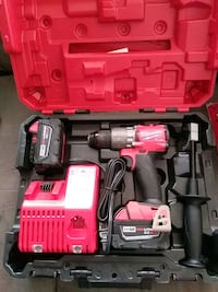 Milwaukee tools M18 hammer drill kit with 2 - 5.0 xc batteries