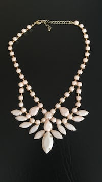 Light pink and gold necklace  Edmonton, T5Y 1M3