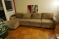 Tan fabric 3 piece sectional sofa San Francisco, 94117