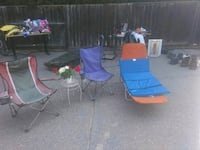 two blue and red camping chairs Lathrop, 95330
