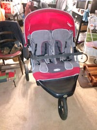 Red gray double stroller with black Montgomery Village, 20886