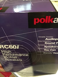 RC60i High performance in wall speakers