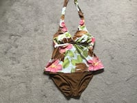 Washed, never worn, ladies one piece bathing suit, alter top, size 12, padded bra, from Bikini Bay Brampton, L6R 2C4