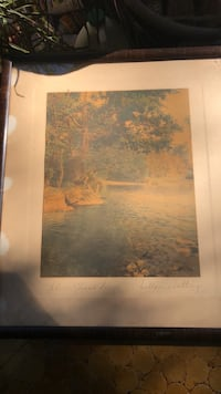 Very old Wallace Nutting colored signed print ! Valued around $100.00 !!! Asking $75 well known artist !!  786 mi