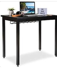 36inch office desk with cable organizer black