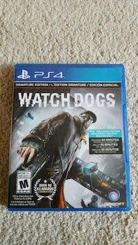 Watch Dogs PS4 game case Brampton
