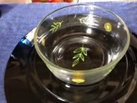 Small Chalk Embellished Pyrex bowl come by Finder's Keepers gift and Thrift Tijeras, 87059