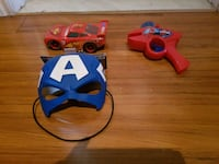 blue and white Captain America mask Laval, H7N 1R4