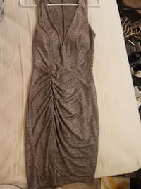Papaya women's silver sleeveless mini dress