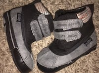 Size 1 Dream Seek NEW Velcro Slip On Baby Toddler Kids Boots Shoes Katy, 77449