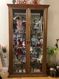 Mirror-backed Wooden Display Case