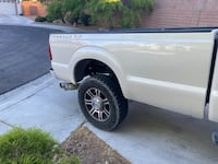 Truck bed, wheels and tires, side steps