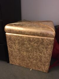 Rose gold ottoman