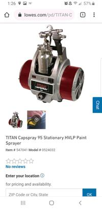 Titan  cap sprayer 95 hvlp