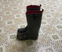 Grey and Pink Rain Boots