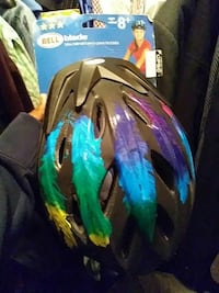 black, green and purple Bell Blade bicycle helmet Washington, 20032