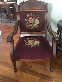 Needle point  Victorian chair