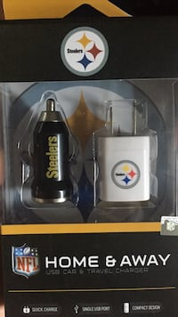 Steelers car charger and charging block