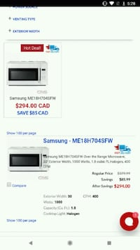 white and black microwave oven Niagara Falls, L2H 1H1