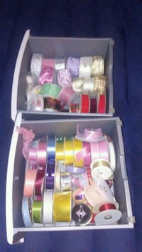 Spools of ribbon for arts and crafts or gift wrap Lakewood