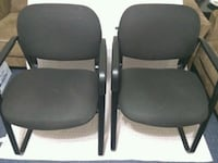 2 Black Chairs-  set of Two /living area/office Chairs