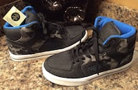 Toddler boy's black & blue canvass high cut shoes ( brand new with tag )- pls slide to see other photo Calgary, T2J