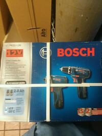 blue and white Bosch 2 picece tool kit Franklin, 45005