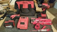 red and black Milwaukee cordless power drill Edmonton, T5S 1T5