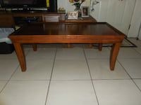 all wood coffee table null
