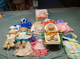 Cabbage Patch Dolls - 1980's - Baby, Dog & Girl w/clothes $40 obo