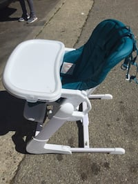 baby's blue and white high chair Oxnard, 93033