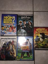 Five assorted dvd movie cases Toronto, M6N 1Y4