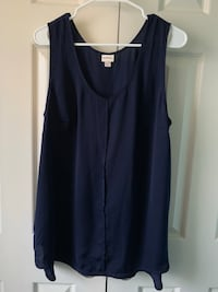 Women's navy blue sleeveless dress shirt Woodbridge, 22193