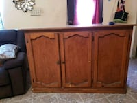 brown wooden cabinet with drawer Laredo, 78040