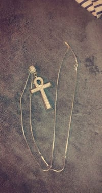 Ankh charm and 31inch sterling chain