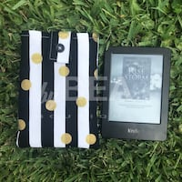 Kindle sleeve - black & white stripes with gold accents Tampa, 33612