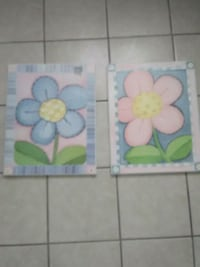 two white and pink flower paintings Tucson, 85714