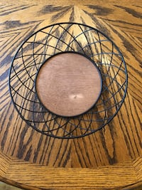 Wire & Wood Bowl