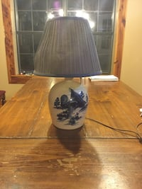 black and white ceramic base table lamp Laurel Hill, 32567