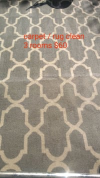 Carpet cleaning 3 rooms $60 Las Vegas