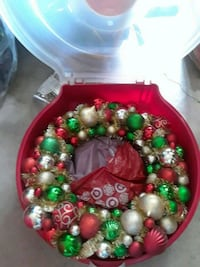 red and green Christmas baubles McAllen, 78501