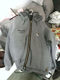 gray and black The North Face zip-up jacket Edmonton, T5L 0S3