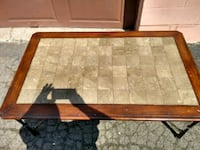 rectangular brown wooden coffee table Montreal, H4G 2Y7